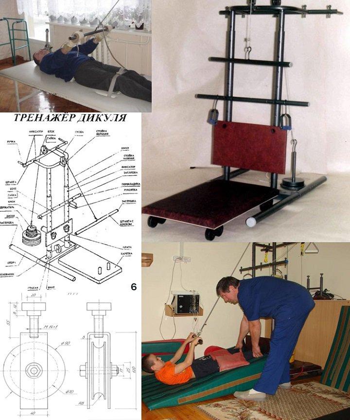 Тренажёр Дикуля для лечебной гимнастики и реабилитации больных (7 фото).