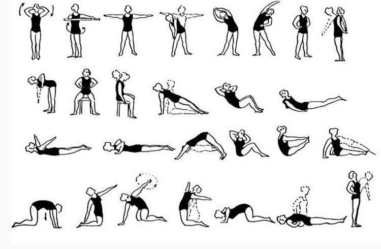 Упражнения по коррекции осанки детей