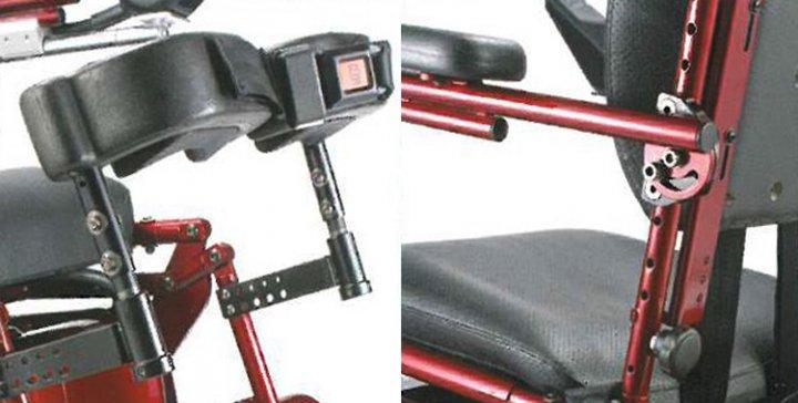 Кресло-коляска с электрическим приводом и с вертикализатором модель LY-103-220