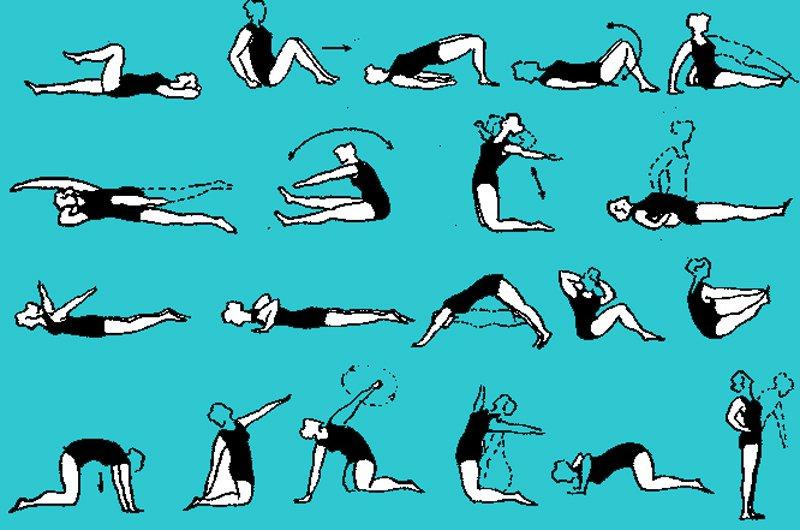 Упражнения по лечебной гимнастике при пояснично-крестцовом ...