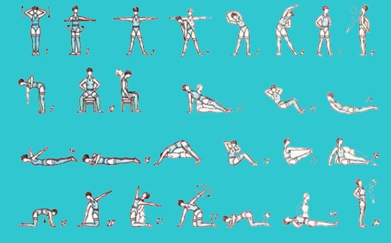 Гимнастика при поясничном остеохондрозе в домашних условиях 194