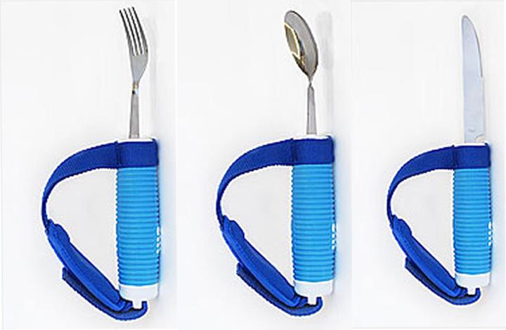 Полезные приспособления для инвалидов и пожилых людей ложка, вилка и нож (4 фото)