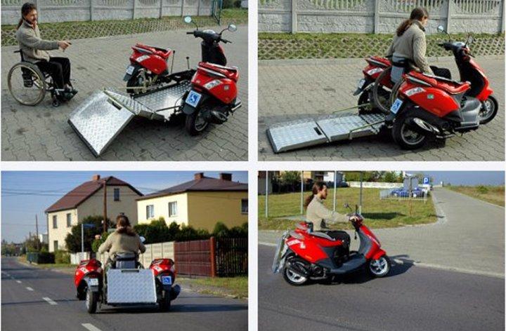 Трехколесный скутер для инвалидов Handiscoot