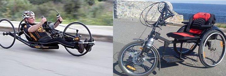 Инвалидная коляска  рычажка цепная