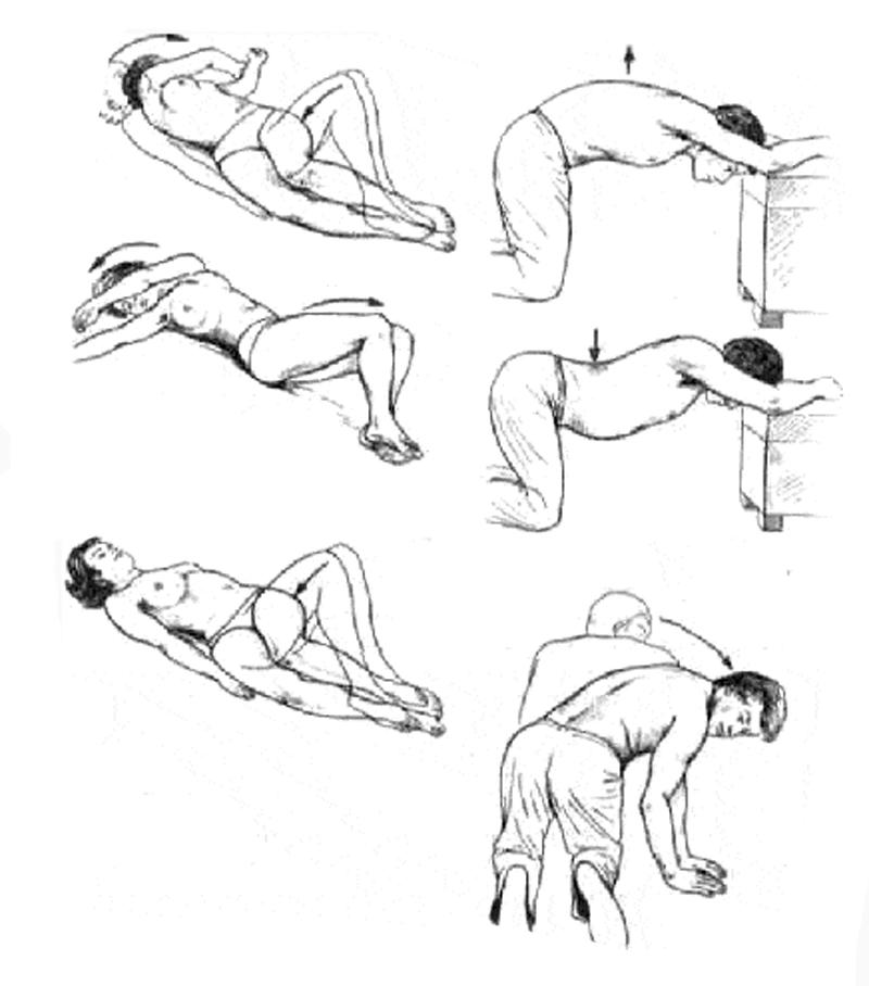 Положение тела при правильной осанке